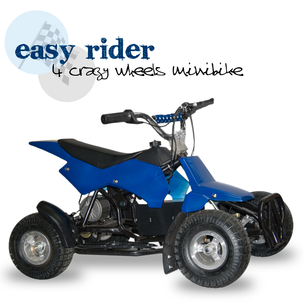 Elektrická čtyřkolka Easy rider, modrá
