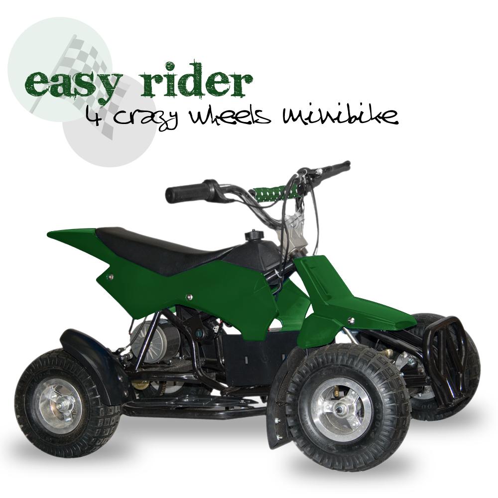 Elektrická čtyřkolka Easy rider, zelená