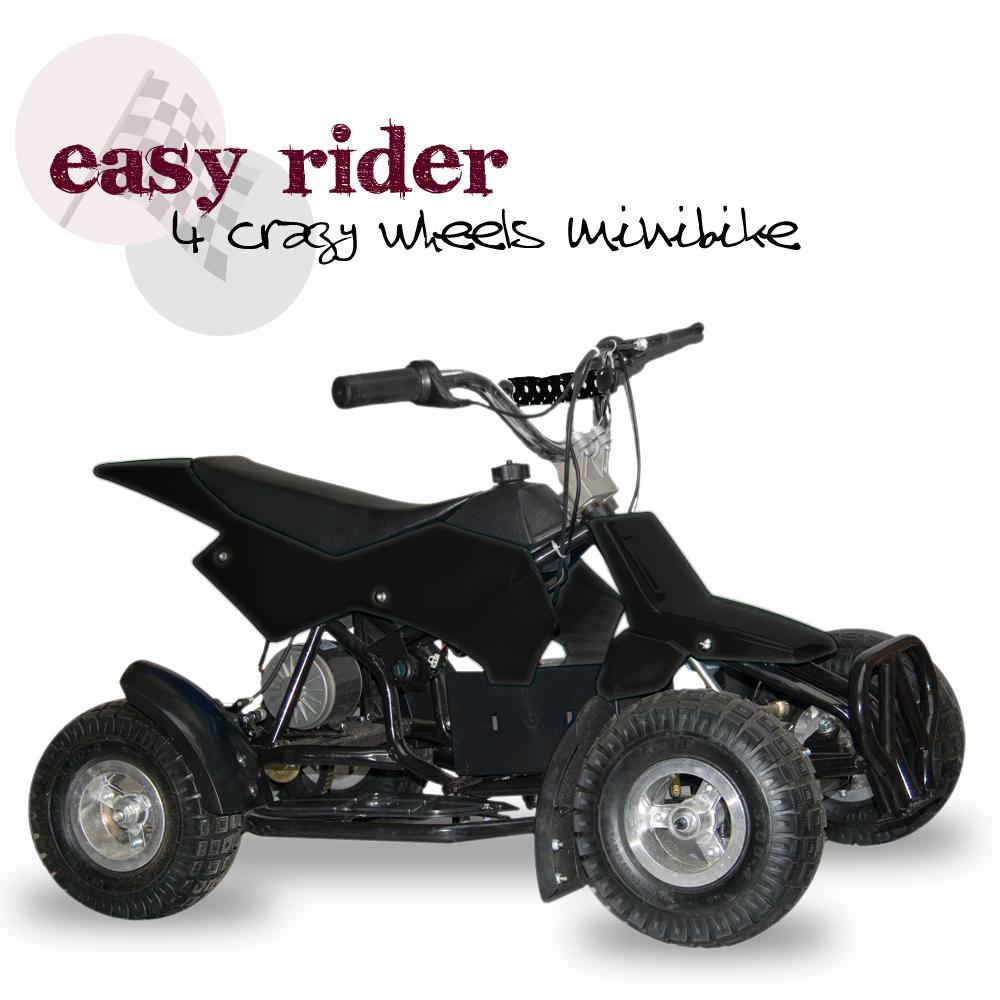 Elektrická čtyřkolka Easy rider, černá