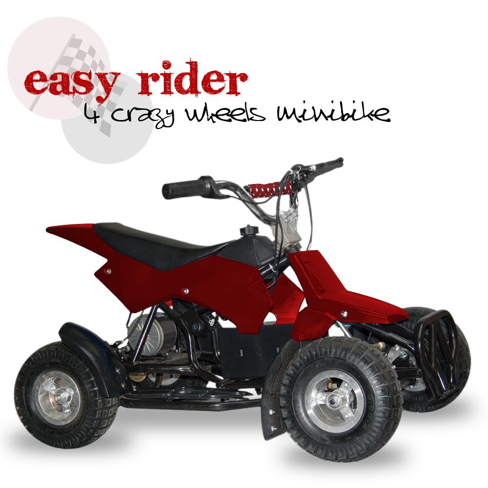 Elektrická čtyřkolka Easy rider, červená