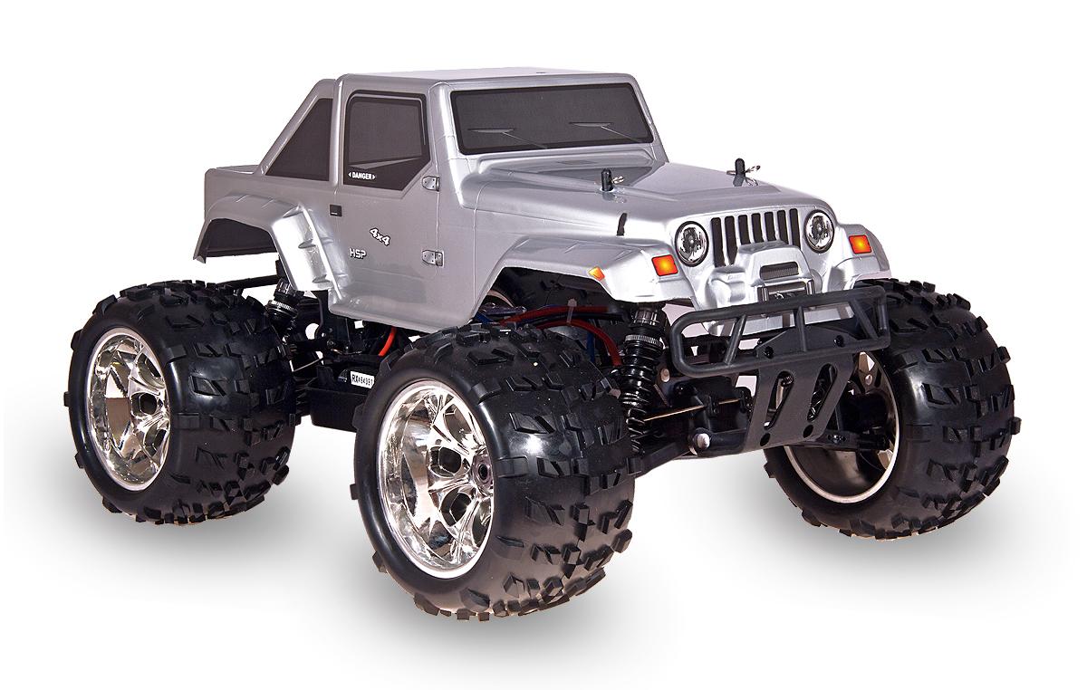 HSP Jeep 4x4, stříbrná