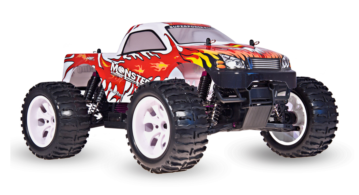 HSP Monster Truck 4x4, červená