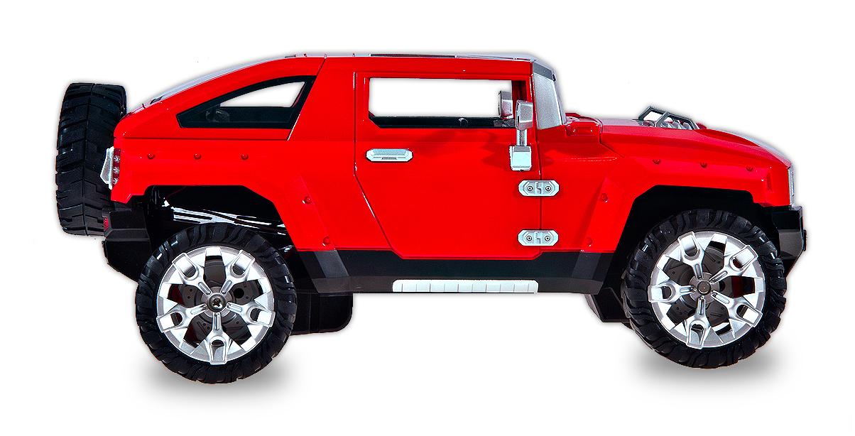 Hummer H4 s nabíjecí baterií, červená