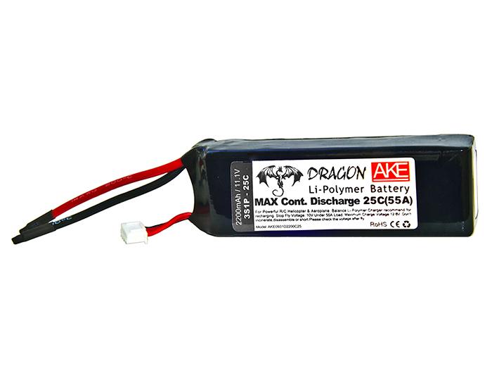 Baterie Li-Pol 2200 mAh 11.1V/25C / DRAGON AKE