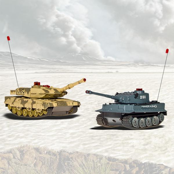 Sada dvou bojujících tanků
