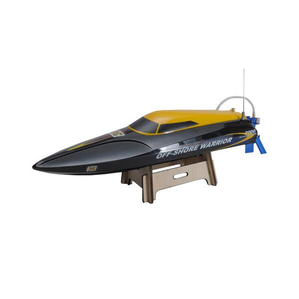 Závodní rychlostní člun Off-Shore Warrior - černo žlutá