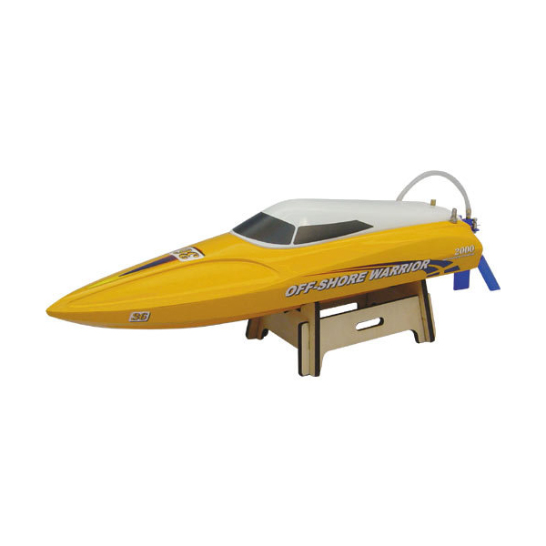 Závodní rychlostní člun Off-Shore Warrior - žluto bílá