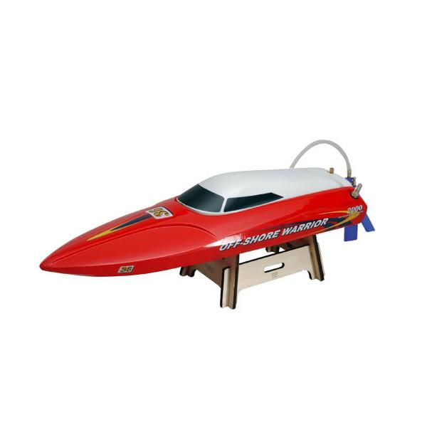 Závodní rychlostní člun Off-Shore Warrior - červeno bílá