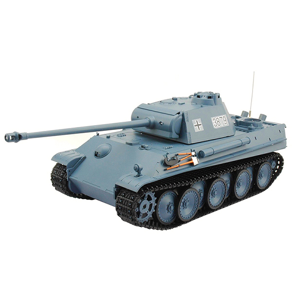 RC tank 1:16 German Panther Type G Late Version 3879 šedomodrá