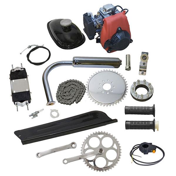 Přídavný motor na kolo 4taktní jednoválec OHV s veškerým příslušenstvím s obsahem 50 ccm, kompletní sada (kit) pro vaše motokolo