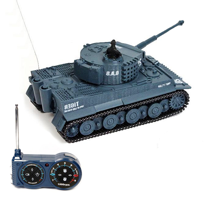 Mini tank TIGER 1/72, Military blue
