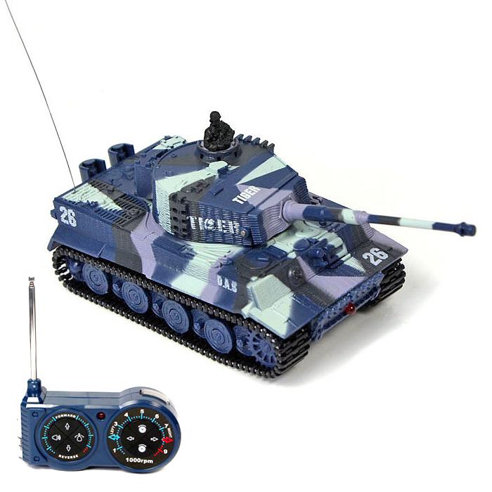 Mini tank TIGER 1/72, Military mimikry blue