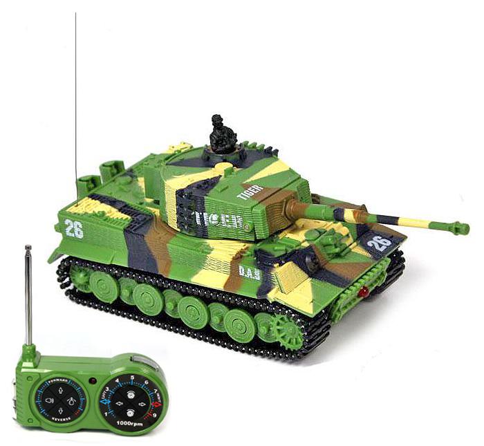 Mini tank TIGER 1/72, Military mimikry grass
