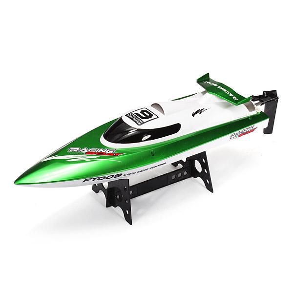 Závodní rychlostní RC loď FT009, zelená