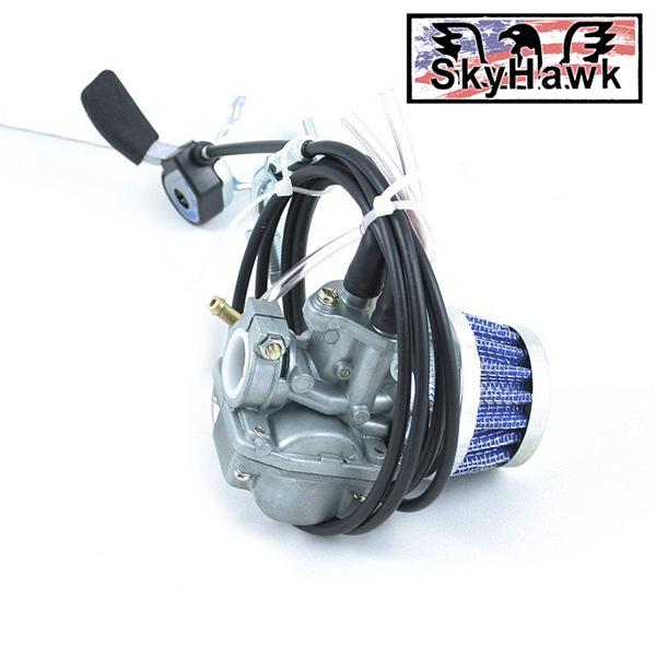 Motor na kolo Sky Hawk-CNS karburátor s technologií přesného nastavení průchodu a míchání vzduchu s palivem, pomocí páčky na řidítkách