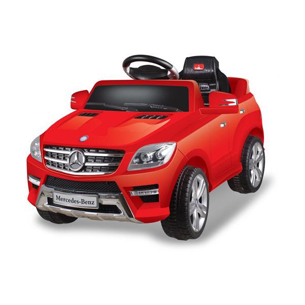 Dětské elektrické autíčko s rodičovským dálkovým řízením styl Mercedes červené