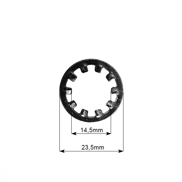 Motor na kolo-zajišťovací podložka A