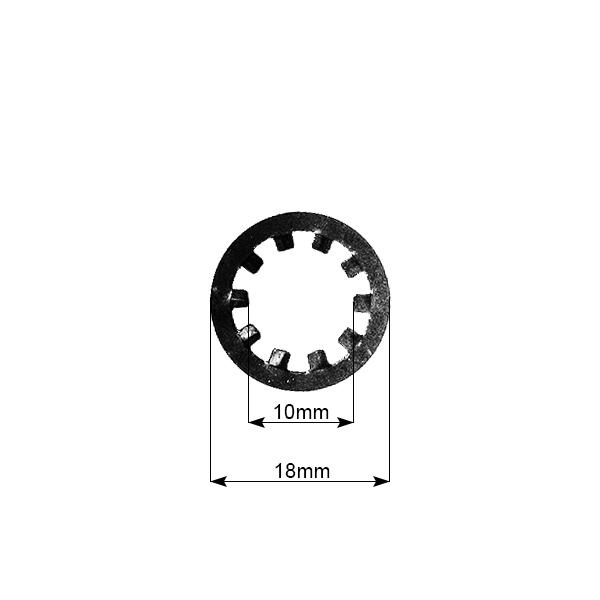Motor na kolo-zajišťovací podložka B