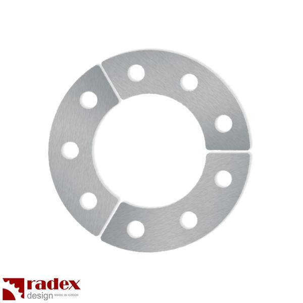 Motor na kolo - robustní 3mm nerezové podložky RADEX pro uchycení rozety do výpletu kola (3ks)