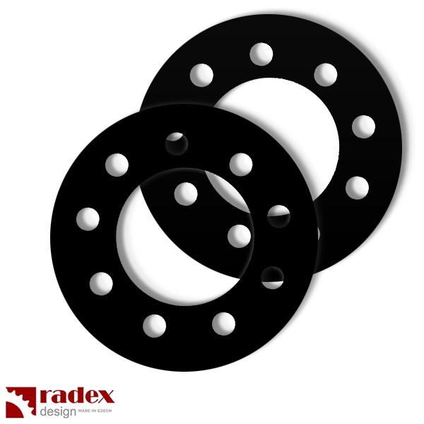 Motor na kolo-distanční pryžové podložky RADEX pro uchycení rozety do výpletu kola (2ks)