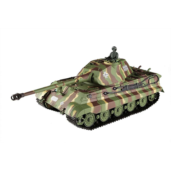 RC tank 1:16 German King Tiger Porsche Turret (Tiger II) 3888-1 kouř. a zvuk. efekty