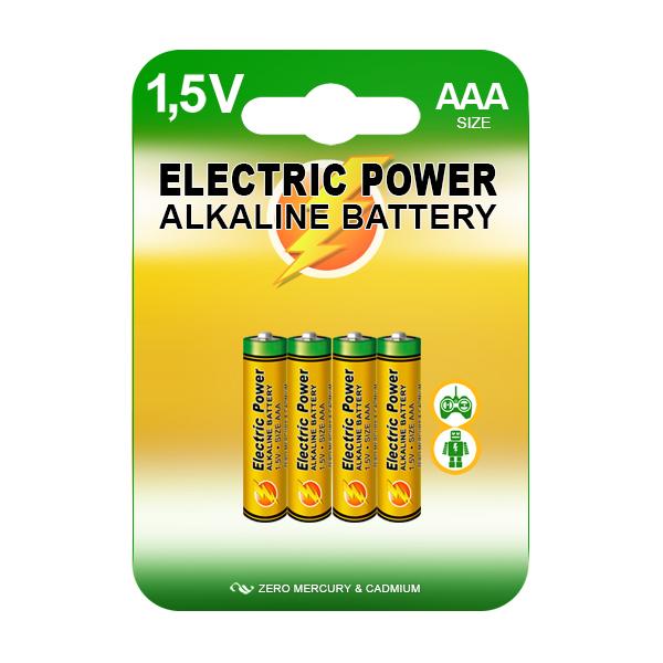 Alkalické baterie 1,5V AAA (4ks)