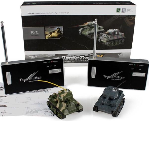 Mini soubojové tanky - Tiger I a T-34
