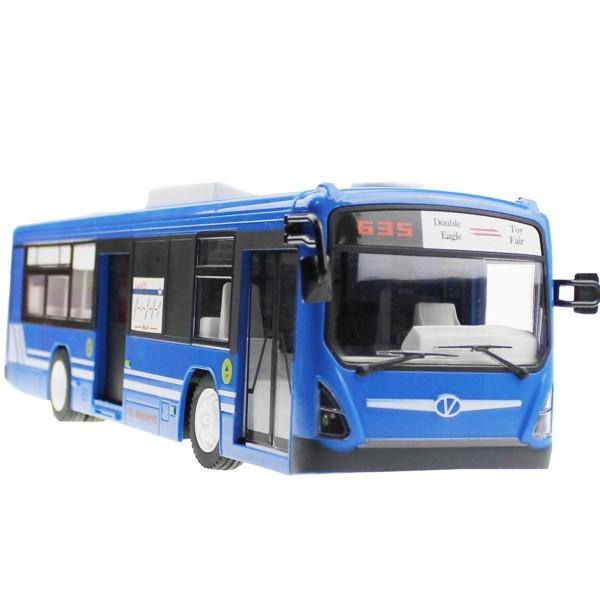 RC autobus s otevíracími dveřmi, 2,4 GHz, modrý