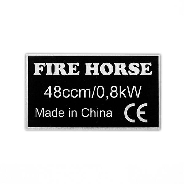 Motor na kolo-štítek motoru Fire Horse 48ccm